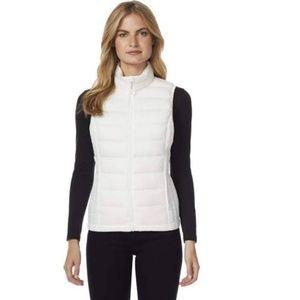 Heat Keep Cream Puffer Vest Size L